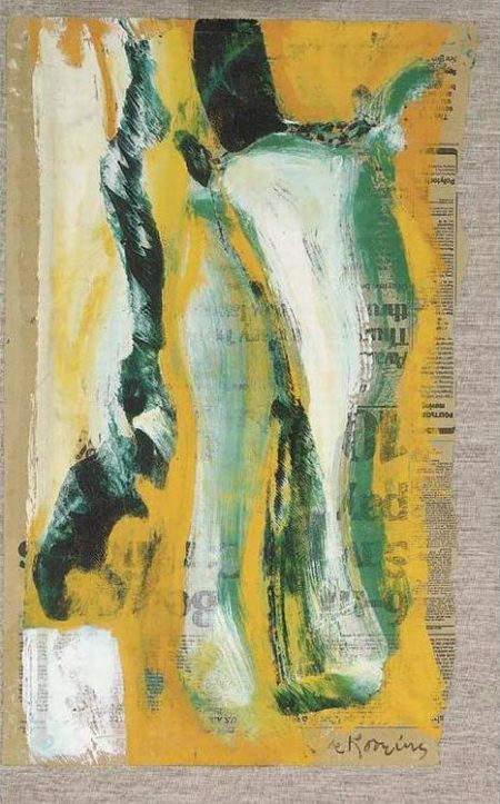 Willem de Kooning-Untitled (Green, Blue and Yellow Painting on Newspaper)-1967