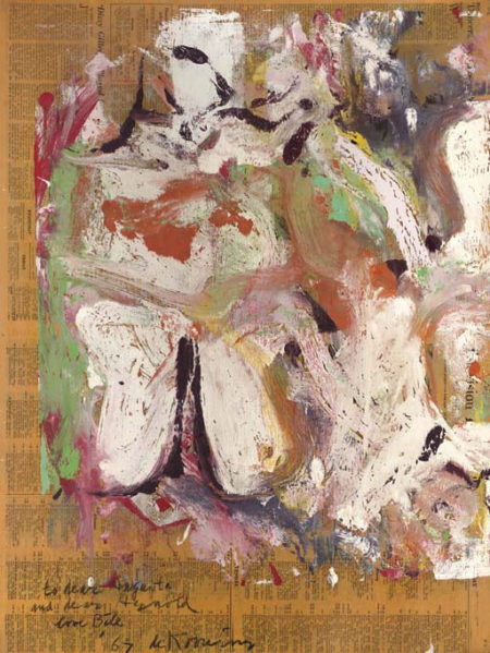 Willem de Kooning-Untitled (White, Red and Black Abstract Painting)-1967