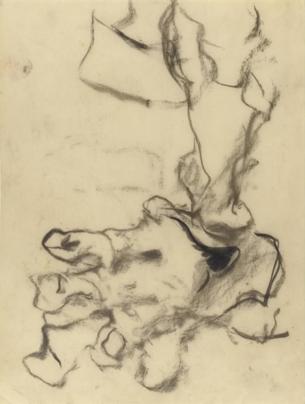 Willem de Kooning-Untitled (Abstract Charcoal Drawing)-1968