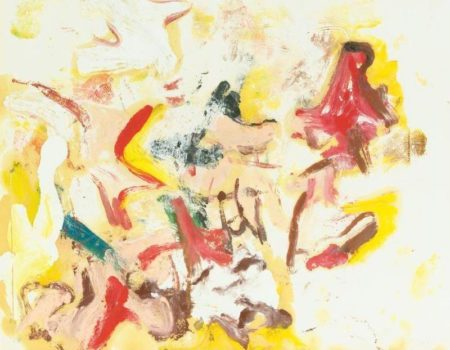Willem de Kooning-Untitled (Red, Yellow and Brown Abstract Painting)-1968