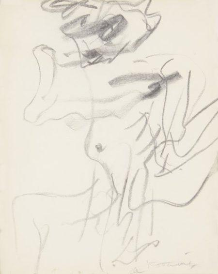 Willem de Kooning-Untitled (Spread Legs Drawing)-1969