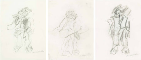 Willem de Kooning-Untitled (Three Drawings)-1970