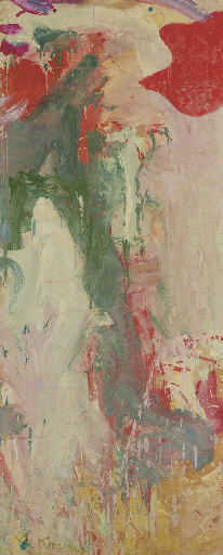 Willem de Kooning-Untitled (Green, White and Red Abstract Painting)-1970