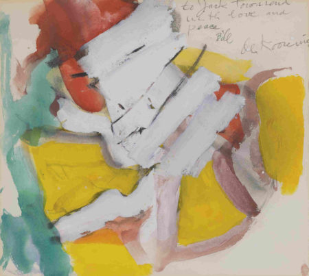 Willem de Kooning-Untitled (Yellow, Blue, Red Abstract Drawing, 'to Jack')-1970