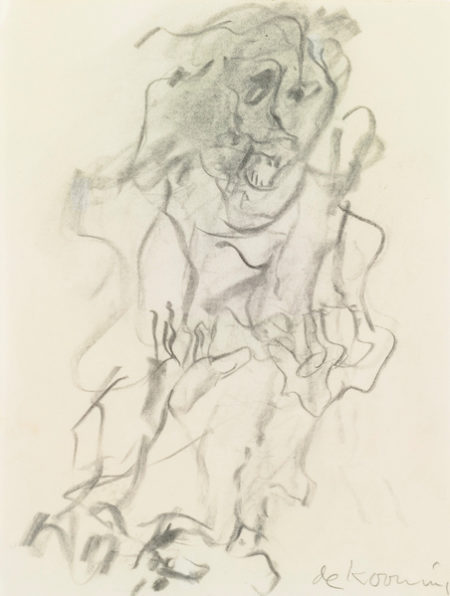 Willem de Kooning-Untitled (Figure Drawing, Charcoal)-1970