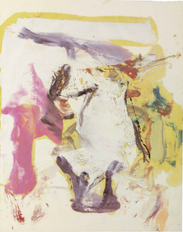 Willem de Kooning-Untitled (Pink and Yellow Abstract Painting)-1970