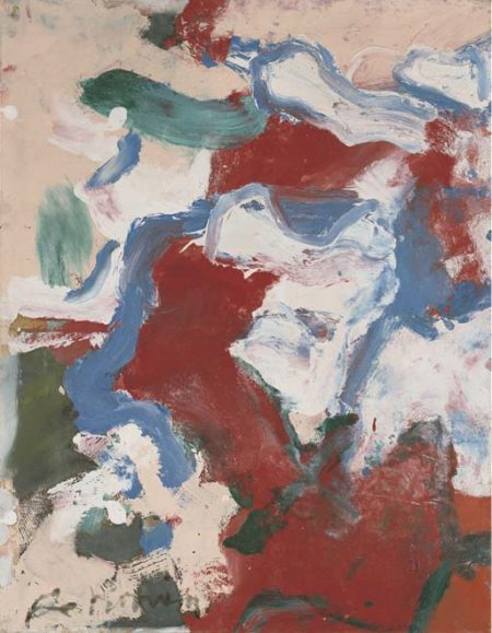 Willem de Kooning-Untitled (Red, Blue and White Abstract Painting)-1972