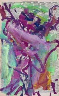Willem de Kooning-Untitled (Purple and Green Abstract Painting)-1973
