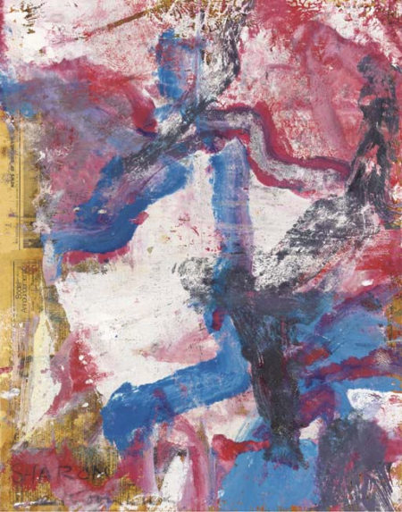 Willem de Kooning-Untitled (Abstract Blue, White and Red Painting)-1974