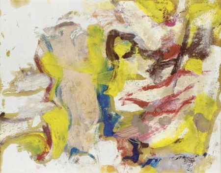 Willem de Kooning-Untitled (White and Yellow Abstract Painting)-1975