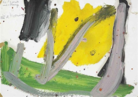 Willem de Kooning-Untitled (Yellow, Green and Black Abstract Painting)-1975