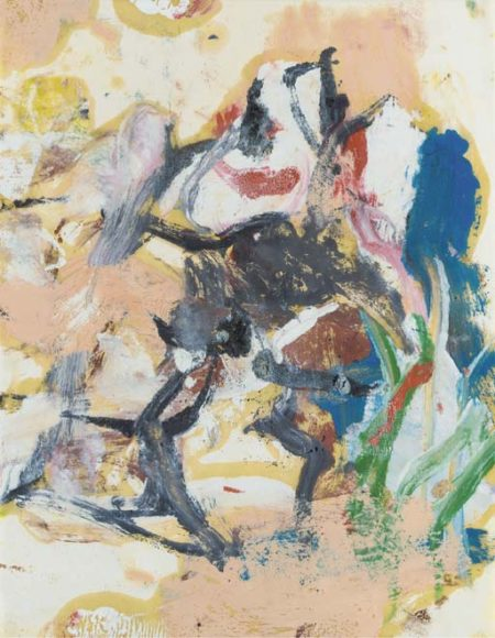 Willem de Kooning-Untitled (Abstract Painting, Oil on Vellum)-1975