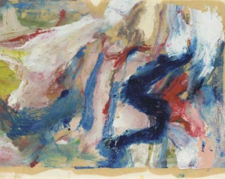 Willem de Kooning-Untitled (Blue, White and Red Abstract Painting)-1975
