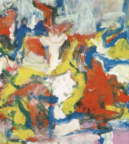 Willem de Kooning-Untitled (Blue, Red, Yellow and White Abstract Painting)-1975