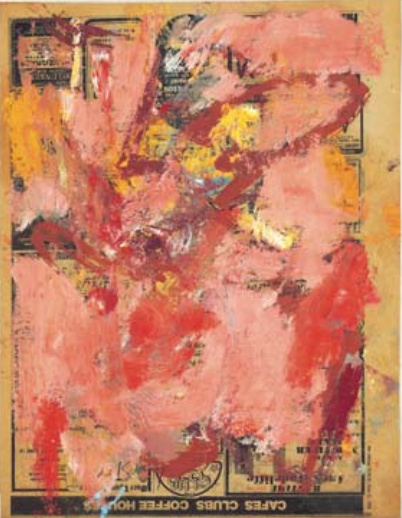 Willem de Kooning-Untitled (Pink, Red, Brown and Yellow Abstract Painting)-1976