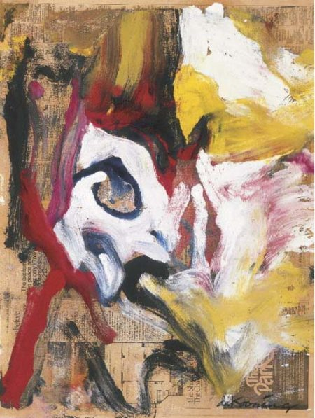 Willem de Kooning-Untitled (Blue, Yellow and Red Abstract Painting)-1977