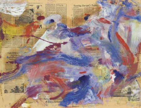 Willem de Kooning-Untitled (Blue, Red and White Abstract Painting)-1977