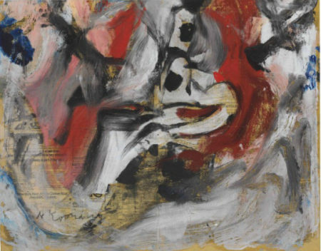 Willem de Kooning-Untitled (Black, White and Red Abstract Painting)-1977