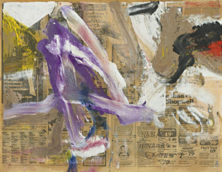Willem de Kooning-Untitled (Purple, Black and White Abstract Painting)-1979