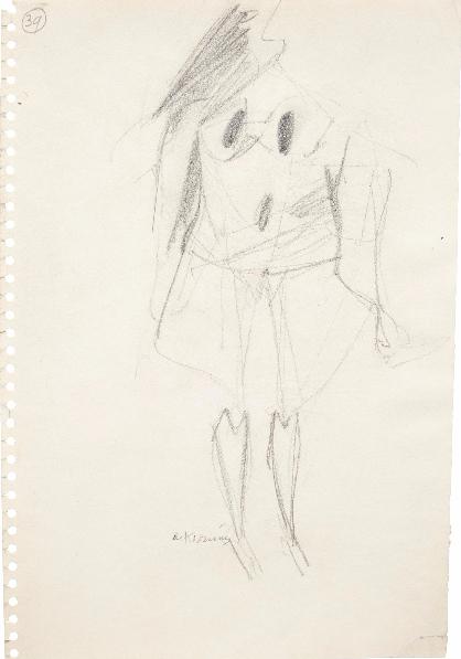 Willem de Kooning-Untitled (39)-1953