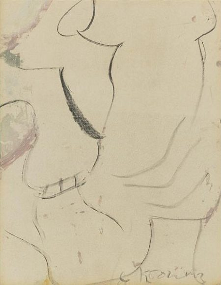 Willem de Kooning-Untitled (Oil and Charcoal)-