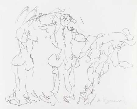 Willem de Kooning-Untitled (Abstract Drawing, Ink on Paper)-1980