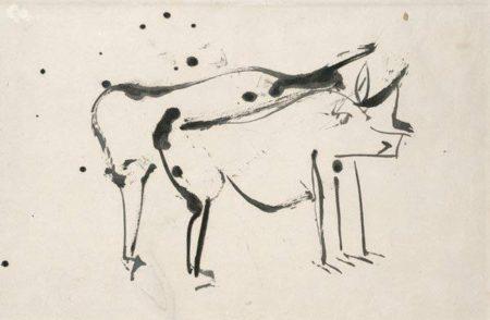 Willem de Kooning-Untitled (Animal Drawing)-1959