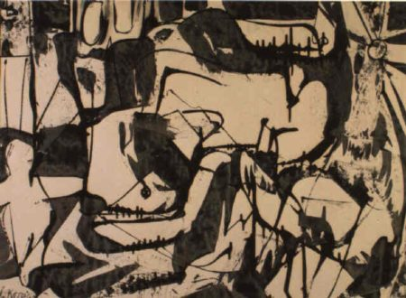 Willem de Kooning-Untitled (Black and White Abstraction)-1950