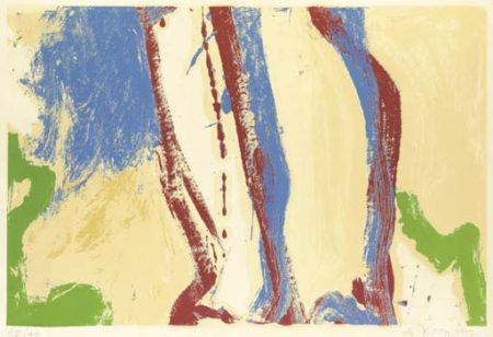 Willem de Kooning-Untitled (Blue, Red and Green Abstract Silkscreen)-1972