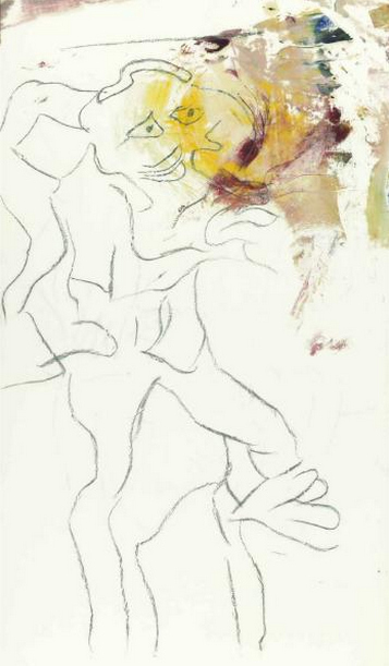 Willem de Kooning-Untitled (Charcoal and Oil on Vellum)-1972