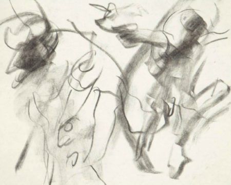Willem de Kooning-Untitled (Charcoal on Paper)-
