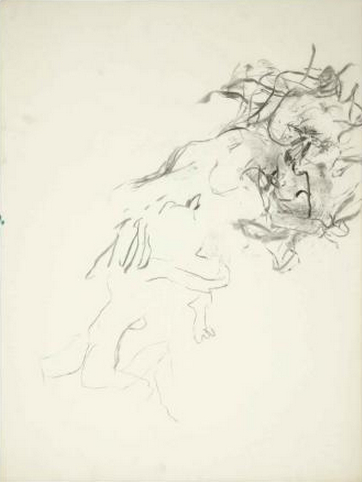 Willem de Kooning-Untitled (Charcoal on Vellum)-1960