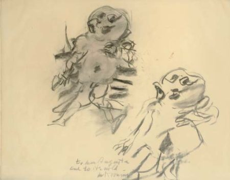 Willem de Kooning-Untitled (Drawing of Two Persons)-1975