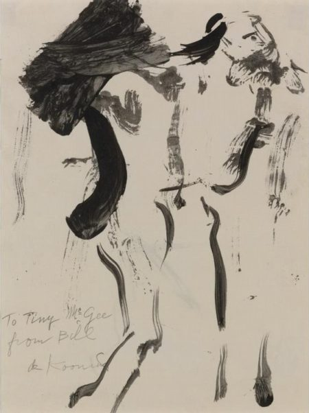 Willem de Kooning-Untitled (Drawing, 'to Tiny McGee')-1959