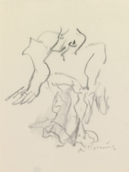 Willem de Kooning-Untitled (Figure Drawing, Charcoal)-1979