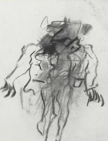 Willem de Kooning-Untitled (Figure Drawing Charcoal on Vellum)-1970
