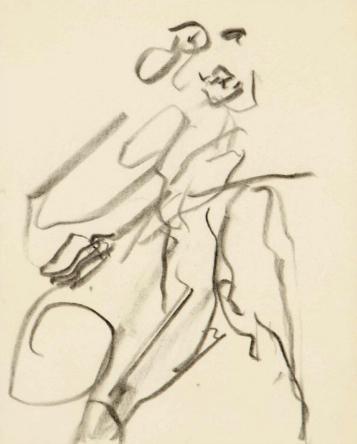 Willem de Kooning-Untitled (Figure Drawing)-