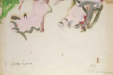 Willem de Kooning-Untitled ('I love Lisa')-1960