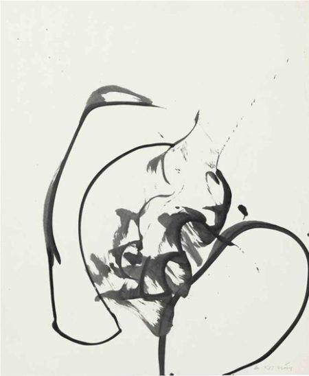 Willem de Kooning-Untitled (Ink on Paper)-1970