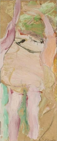 Willem de Kooning-Untitled (Oil and charcoal on Paper mounted on Masonite)-1964