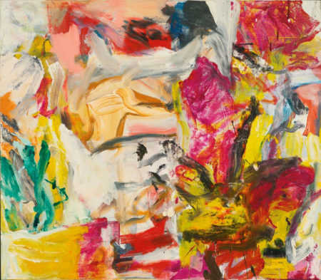 Willem de Kooning-Untitled (Pink, Yellow, White, Brown, Red Abstract Painting)-1977