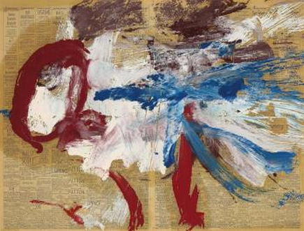 Willem de Kooning-Untitled (Red, White and Blue Abstract Painting)-1969