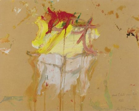 Willem de Kooning-Untitled (Red, Yellow and White Painting, 'and this one to Bill')-1968