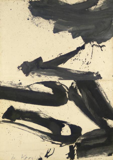 Willem de Kooning-Untitled, Rome Series-1959