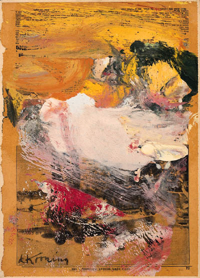 Willem de Kooning-Untitled (Sketch of Woman Kicking Leg)-1964