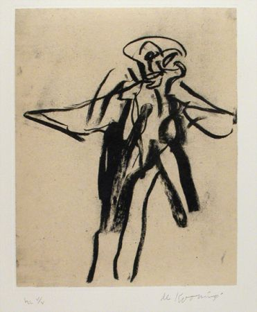 Willem de Kooning-Untitled (Man Standing)-1988