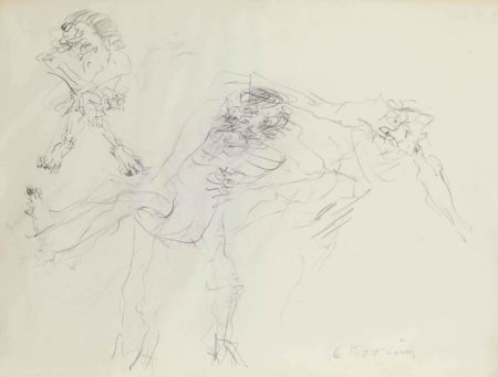Willem de Kooning-Untitled (Three Figures Drawing)-1969