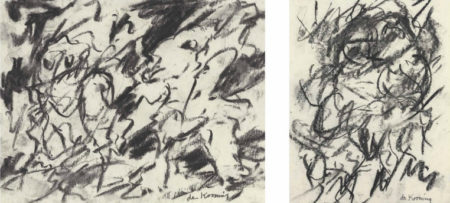 Willem de Kooning-Untitled (Two Abstract Drawings)-1975