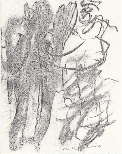 Willem de Kooning-Untitled (Two Figures Drawing)-