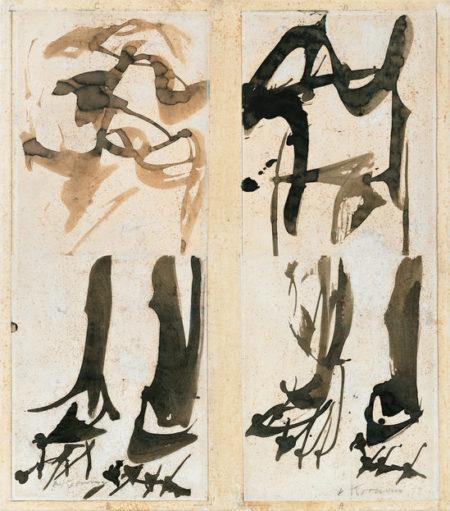 Willem de Kooning-Untitled (Two Standing Figures)-1960